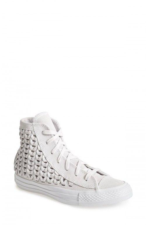 3e85ea7b899 Converse Women s Chuck Taylor All Star Woven Suede High Top Sneakers 9 Grey