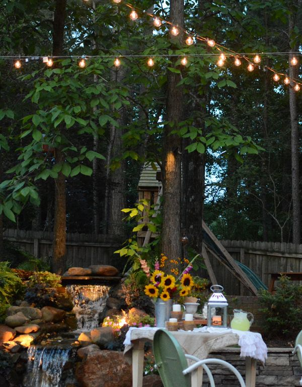 You Could Easily Install Poles Or For A Temporary Solution Like Maybe If You Ll Be Throwing Outdoor Landscape Lighting Deck Designs Backyard Landscape Lighting