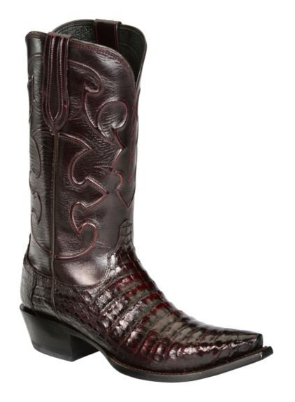9e7ce941b97 Lucchese Handcrafted 1884 Black Cherry Crocodile Belly Cowboy Boots - Snip  Toe available at #Sheplers