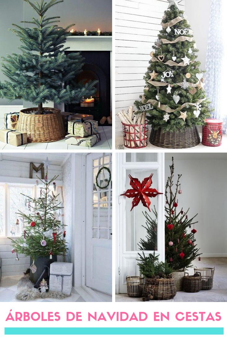 21 Arboles De Navidad En Cestas Decoracion Navidena Ideas De Decoracion De Navidad Arbol De Navidad Decoracion Navidad