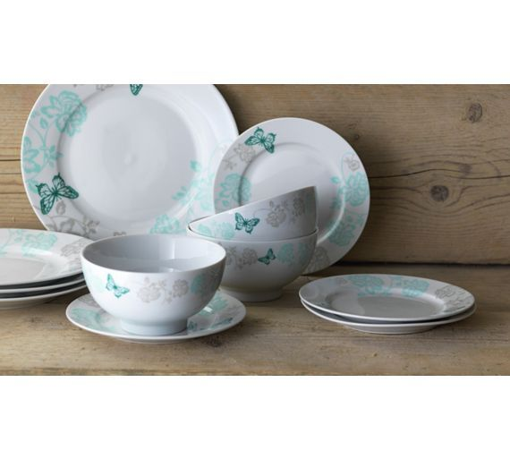 Buy Collection Darcy 12 Piece Porcelain Dinner Set - Duck Egg at Argos.co.  sc 1 st  Pinterest & Buy Collection Darcy 12 Piece Porcelain Dinner Set - Duck Egg at ...