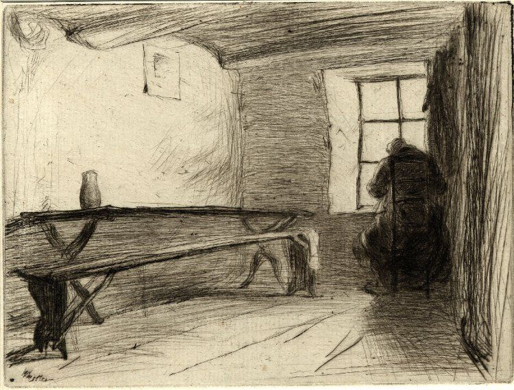 James McNeill Whistler (1834-1903), The Miser, etching, 1849/63