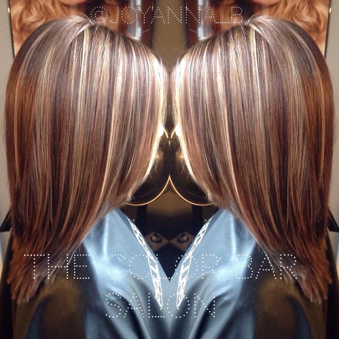 Coiffure Cheveux Mi Long Meche Blonde Caramel And Platinum Highlights Traditional Highlight
