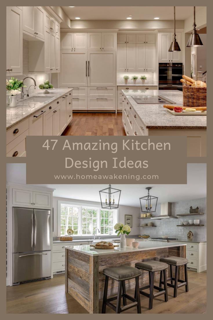 47 Amazing Kitchen Design Ideas Home Awakening In 2020 Kitchen Design Best Kitchen Designs Cool Kitchens
