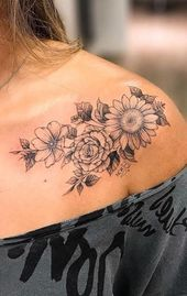 Photo of Vintage Traditional Floral Flower Sunflower Shoulder Tattoo Ideas for Women – ww…