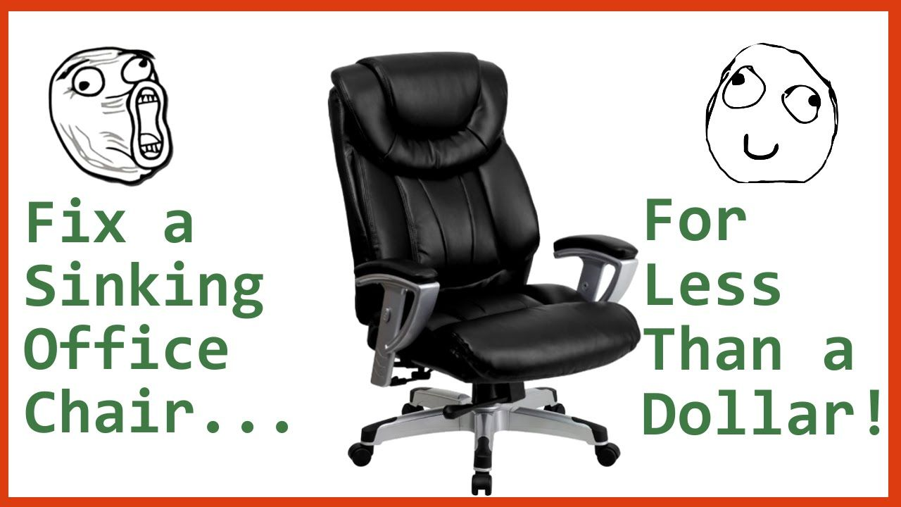 office chairs for less fix sinking office chair for less than dollar tutorial tutorial