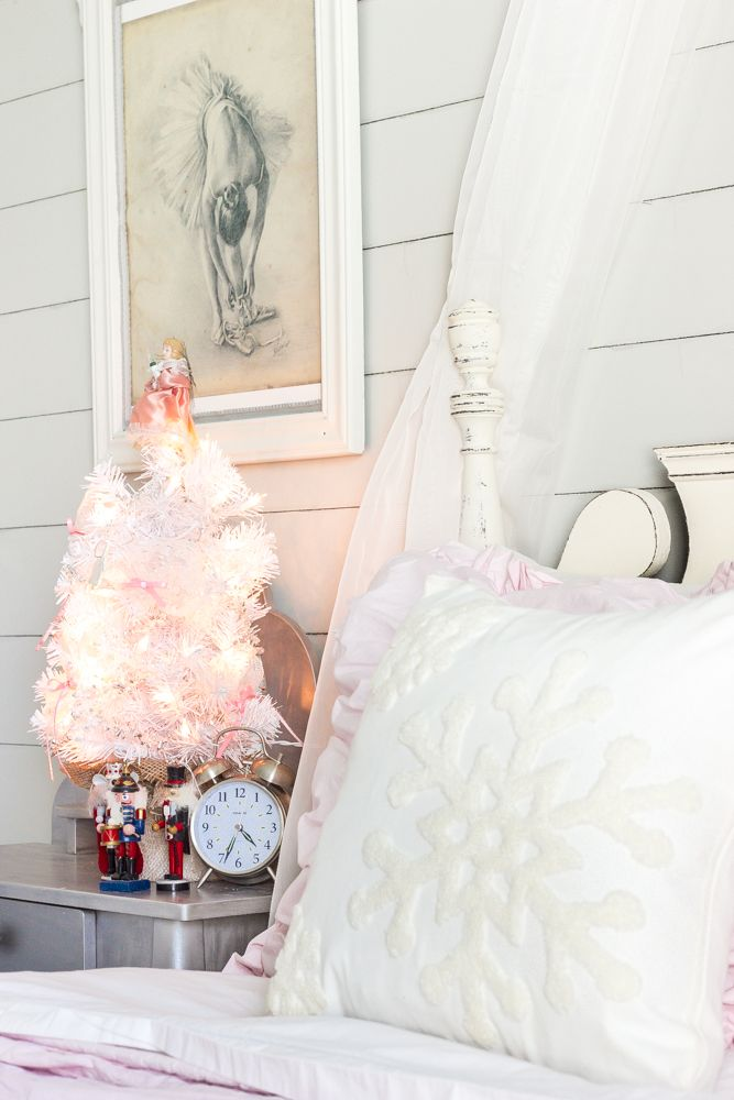 White Christmas Bedrooms Tour Christmas bedroom, Mercury glass and