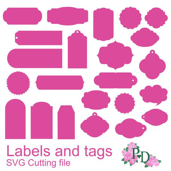 Label Tag Diecutting Studio V3 Svg Dxf Cutting Fi Lesfor