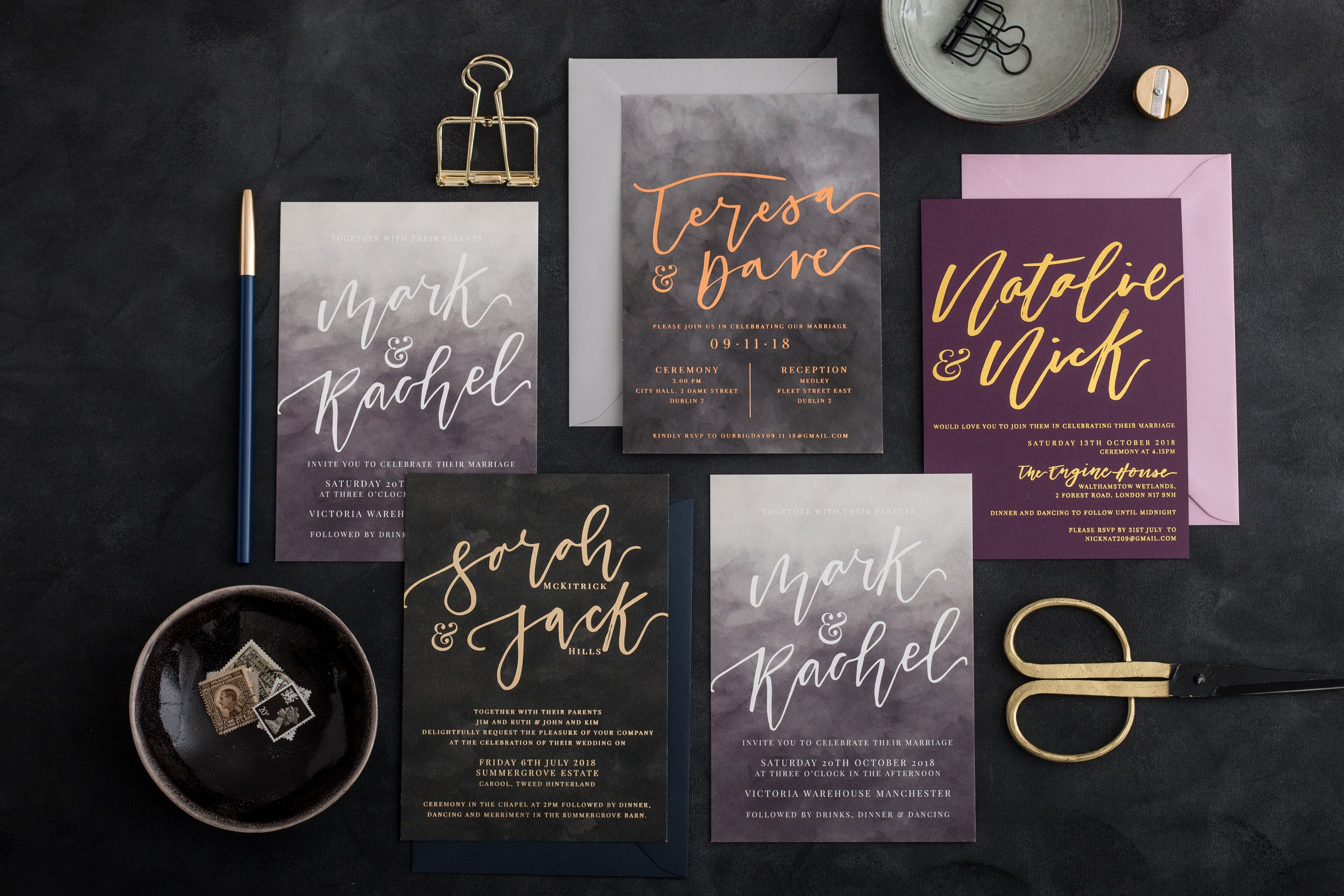 Luxury Calligraphy & Hot Foil Wedding Stationery The
