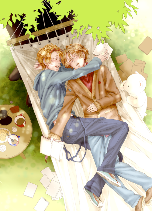 Hetalia USCan AmeCan <it's cute but I only see them as brothers. my brotp.