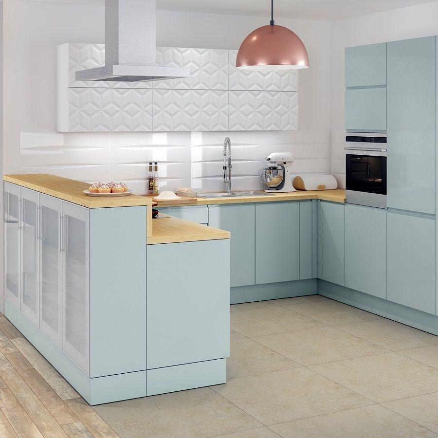 Leroymerlin Leroymerlinpolska Dlabohaterowdomu Domoweinspiracje Kuchnia Szafki Pastelowakuchnia Fronty Drewnianyblat Home Design Inspiration
