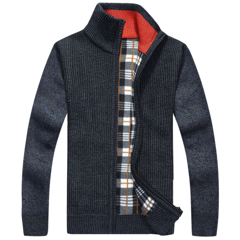 New Winter Fashion Warm Thick Cardigan Sweaters Zipper Design ...