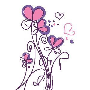 Vinilos Naturaleza Flores Corazones Pintar Corazones Flores Para