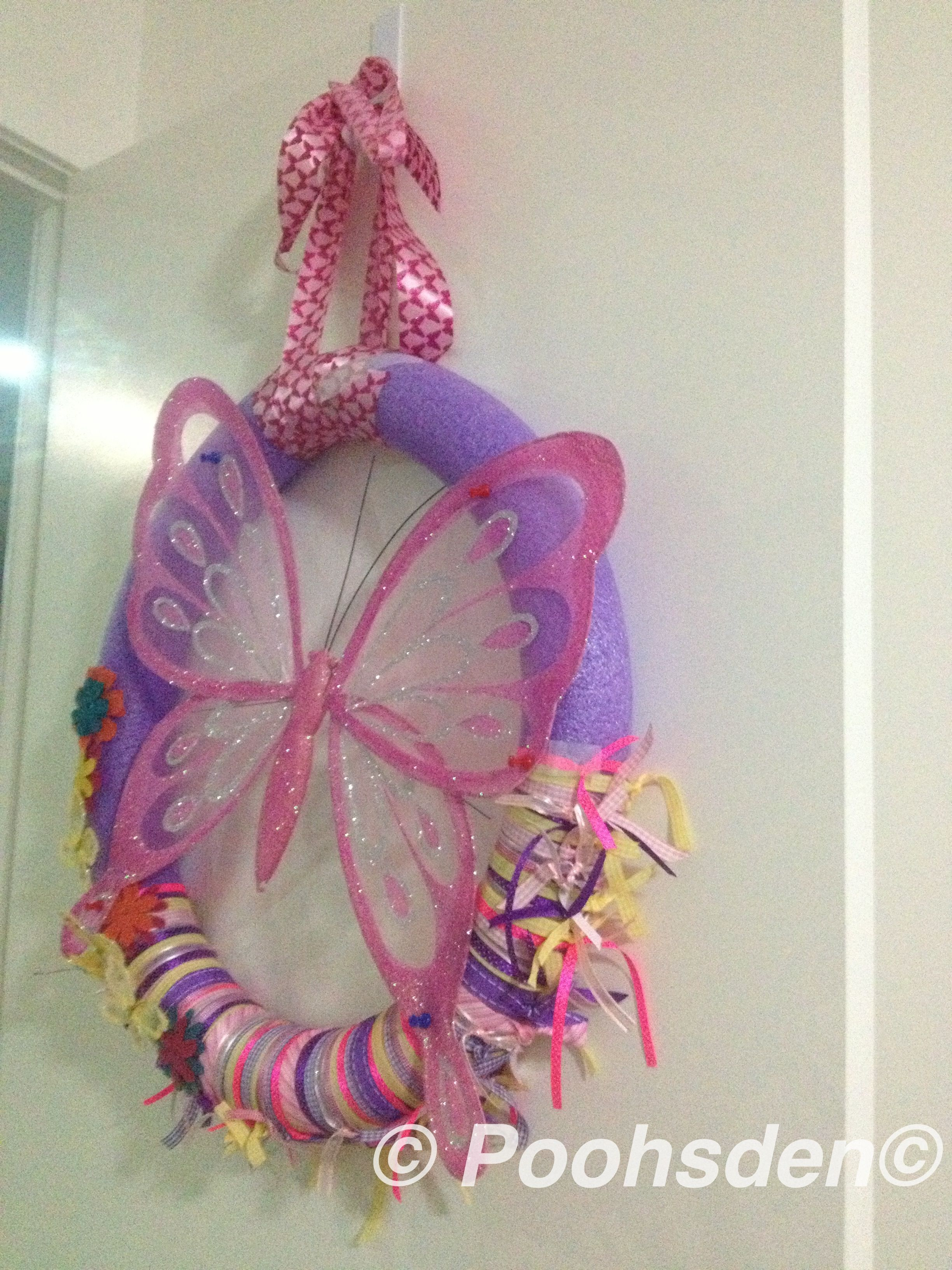 Diy Pool Noodle Wreath Butterfly Room Decor Poohsden  # Muebles Doo Beograd