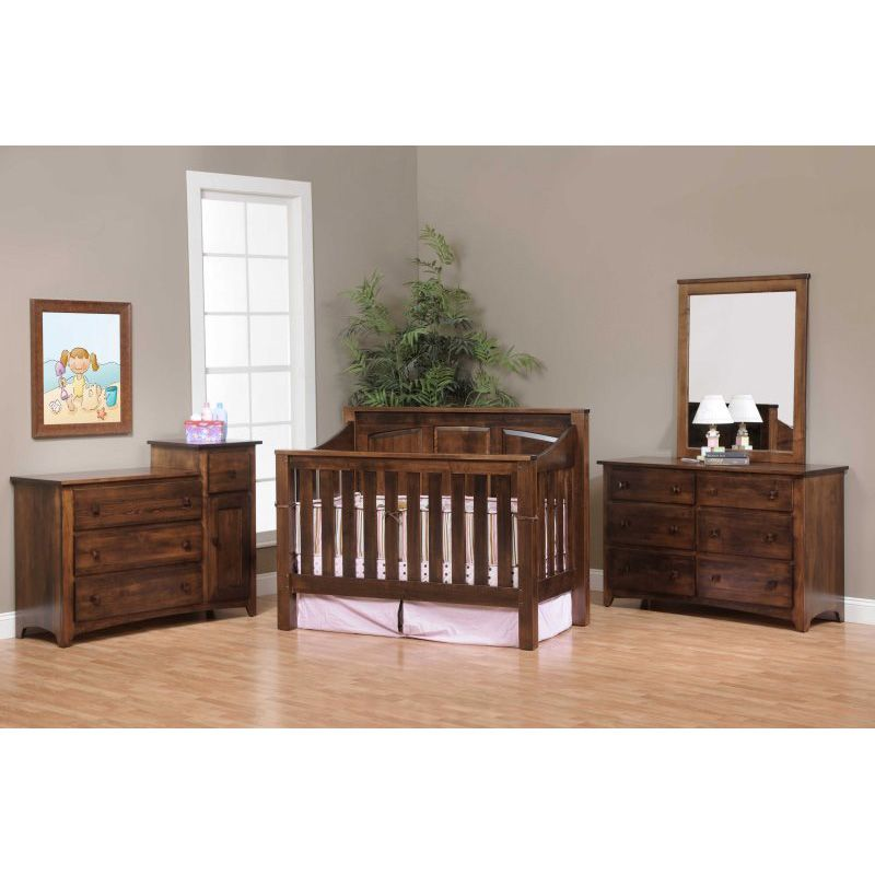Mission Panel Crib 26 Mispc Amish Oak Nursery Furniture Made In Usa Outlet Selections Bed At