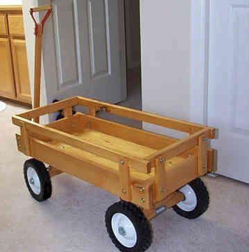 Wood Toy Wagon