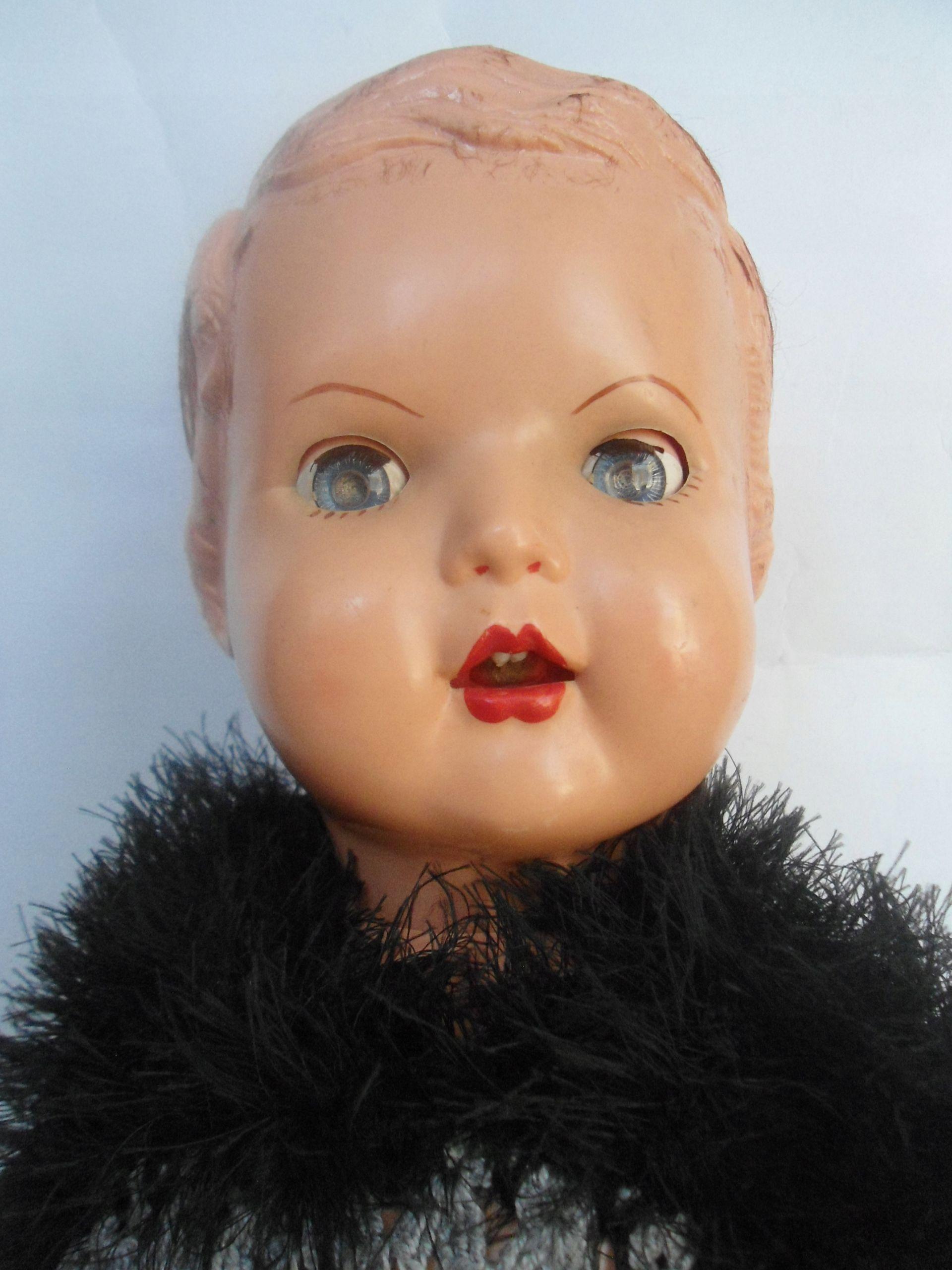 Stara Duza Lalka 7518744581 Oficjalne Archiwum Allegro Baby Face Face
