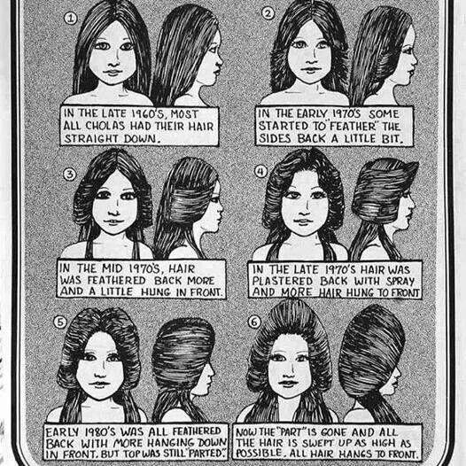 CHICANA HAIR...