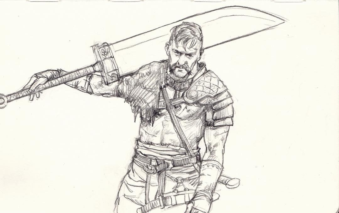 An old drawing i still like viking warrior sketch for Viking pencils