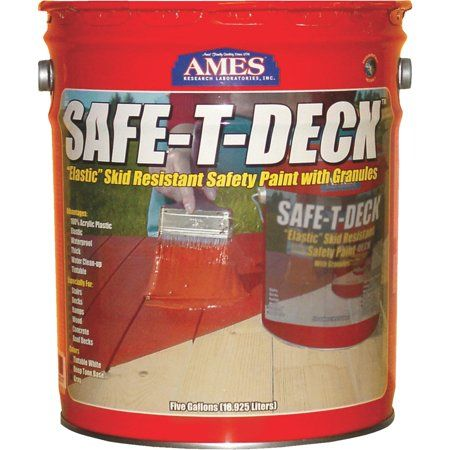Ames Safe T Deck Granulated Deck Coating Tan 5 Gallon Walmart Com In 2020 Deck Paint Deck Floor Coating
