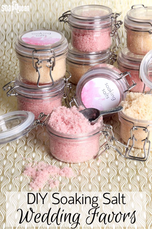 31 brilliantly creative wedding favors you can make for your big day diy wedding favors diy soaking salt scrub wedding favors do it yourself ideas solutioingenieria Choice Image