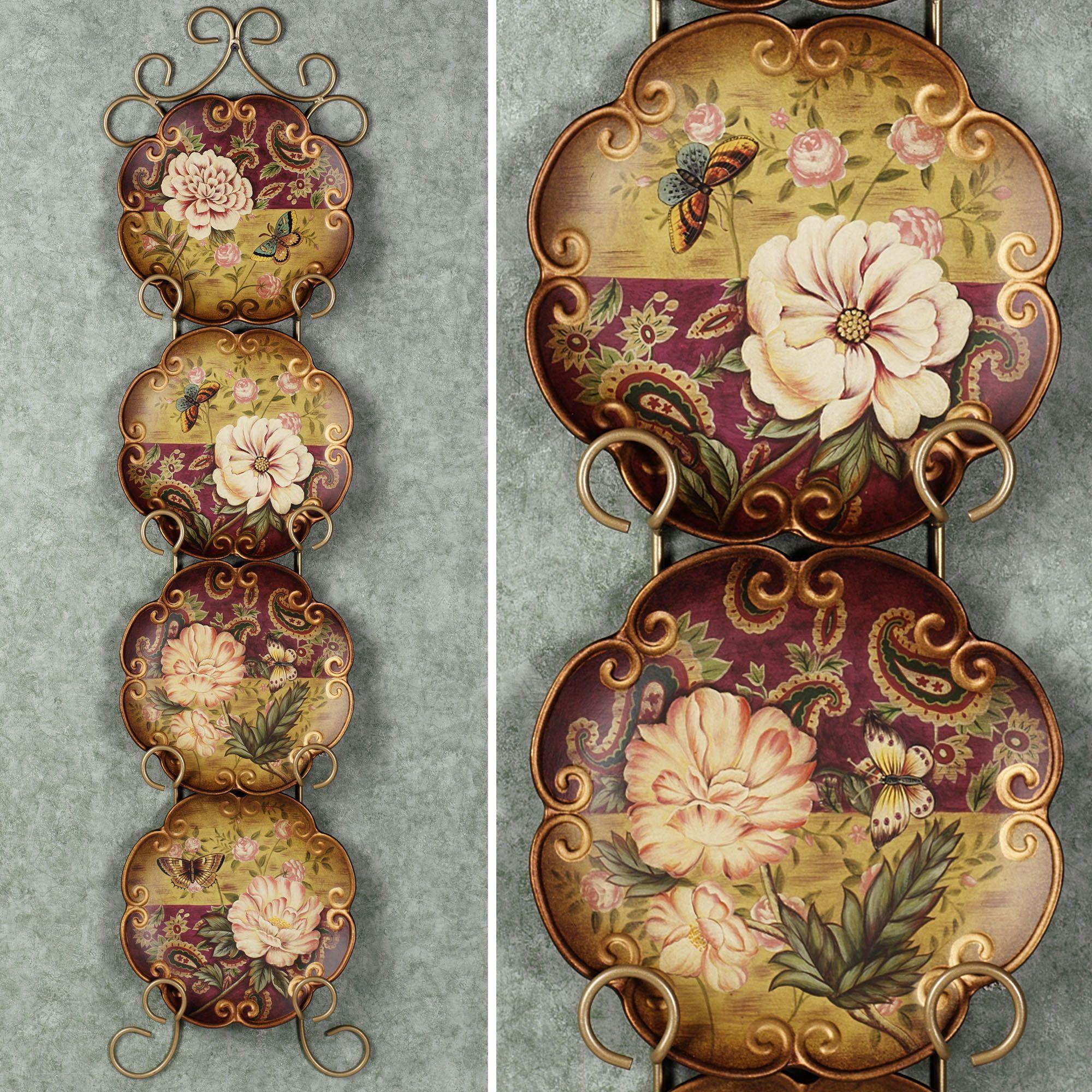Charming Natures Beauty Decorative Ceramic Plate Set