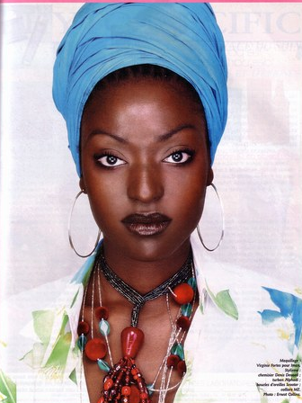 foulard HAIR Coiffure avec foulard, Beauté africaine
