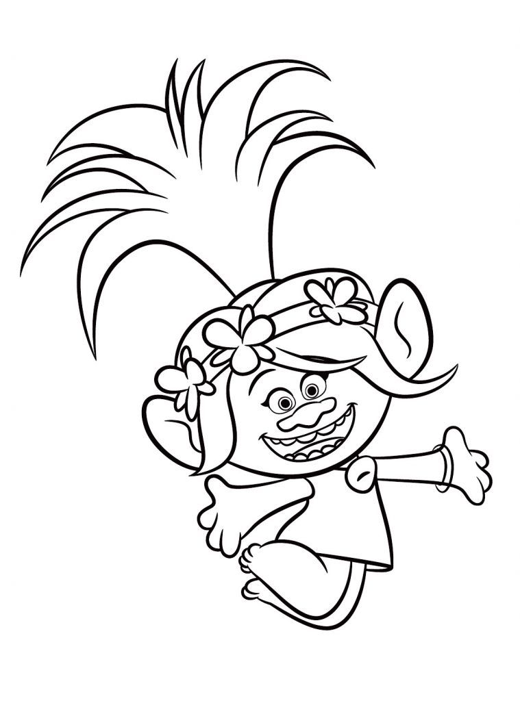Trolls Movie Coloring Pages | Poppy coloring page, Cartoon ...