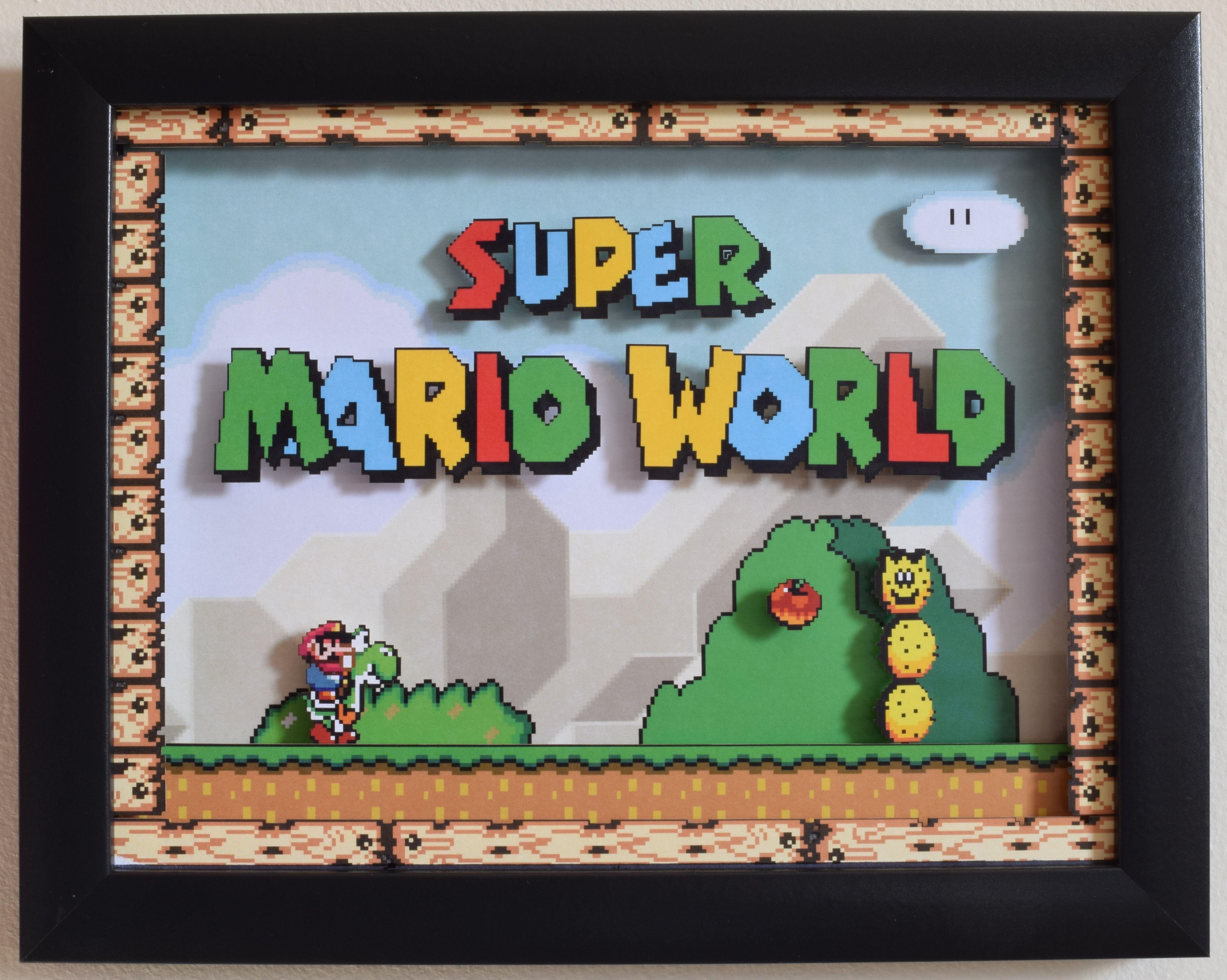 Video Game Shadow Box Post Super Mario Super Mario World Shadow Box