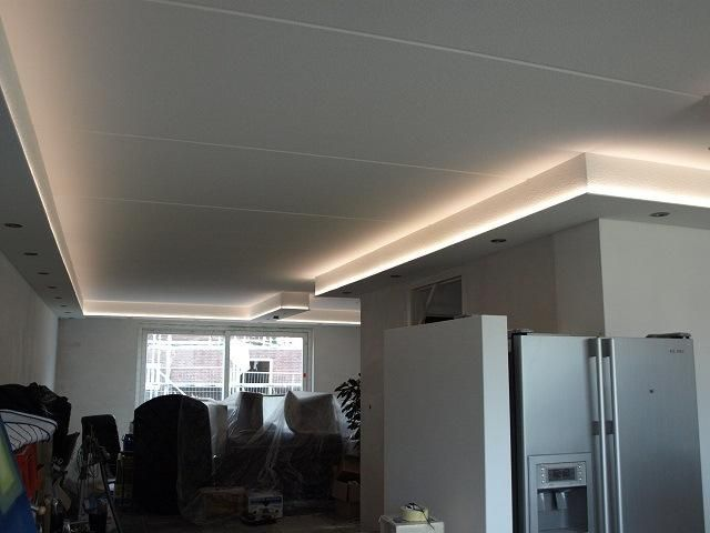 Woonkamer Verlichting Plafond  maken van koof met spotjes