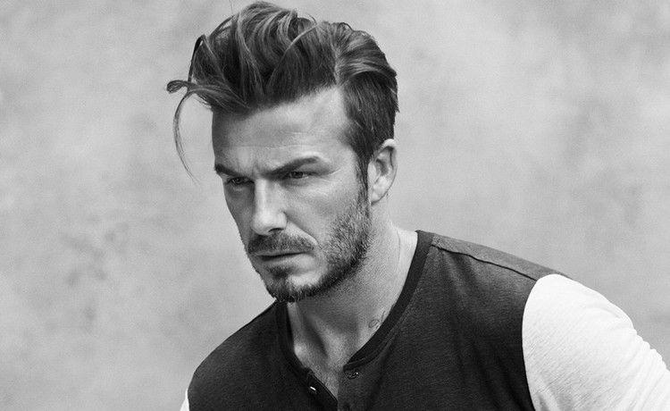 Pompadour Frisur Männer David Beckham Oben Lang Seite Kurz