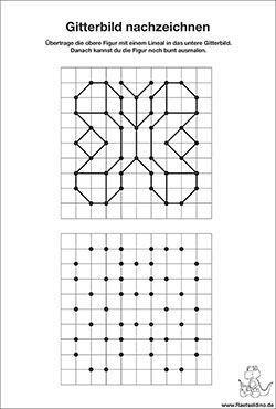 gitterbild zum gratis download schulkram nachzeichnen malen und zeichnen und formen. Black Bedroom Furniture Sets. Home Design Ideas