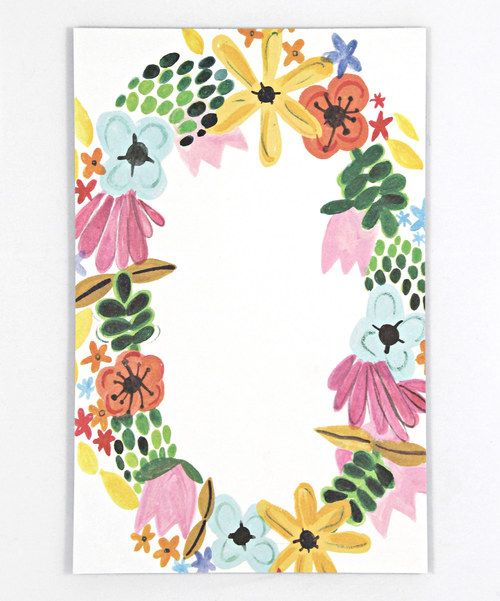 Floral Wreath Note Pad   Something special every day