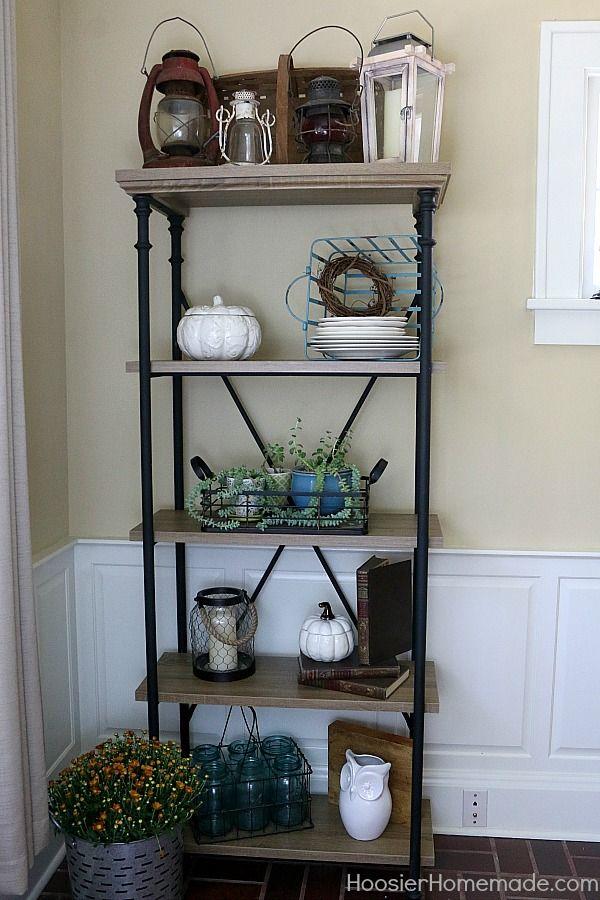Easy Farmhouse Shelf Decor Shelves