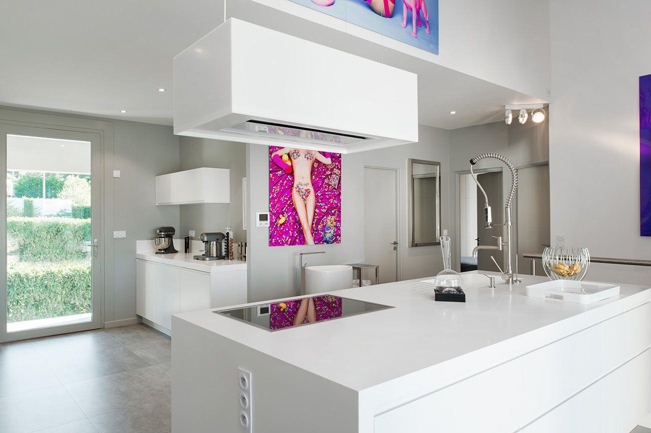 Cuisine Ilot Central Avec Bar ~ Ilot Central Avec Plaque De Cuisson Architecture De La Maison