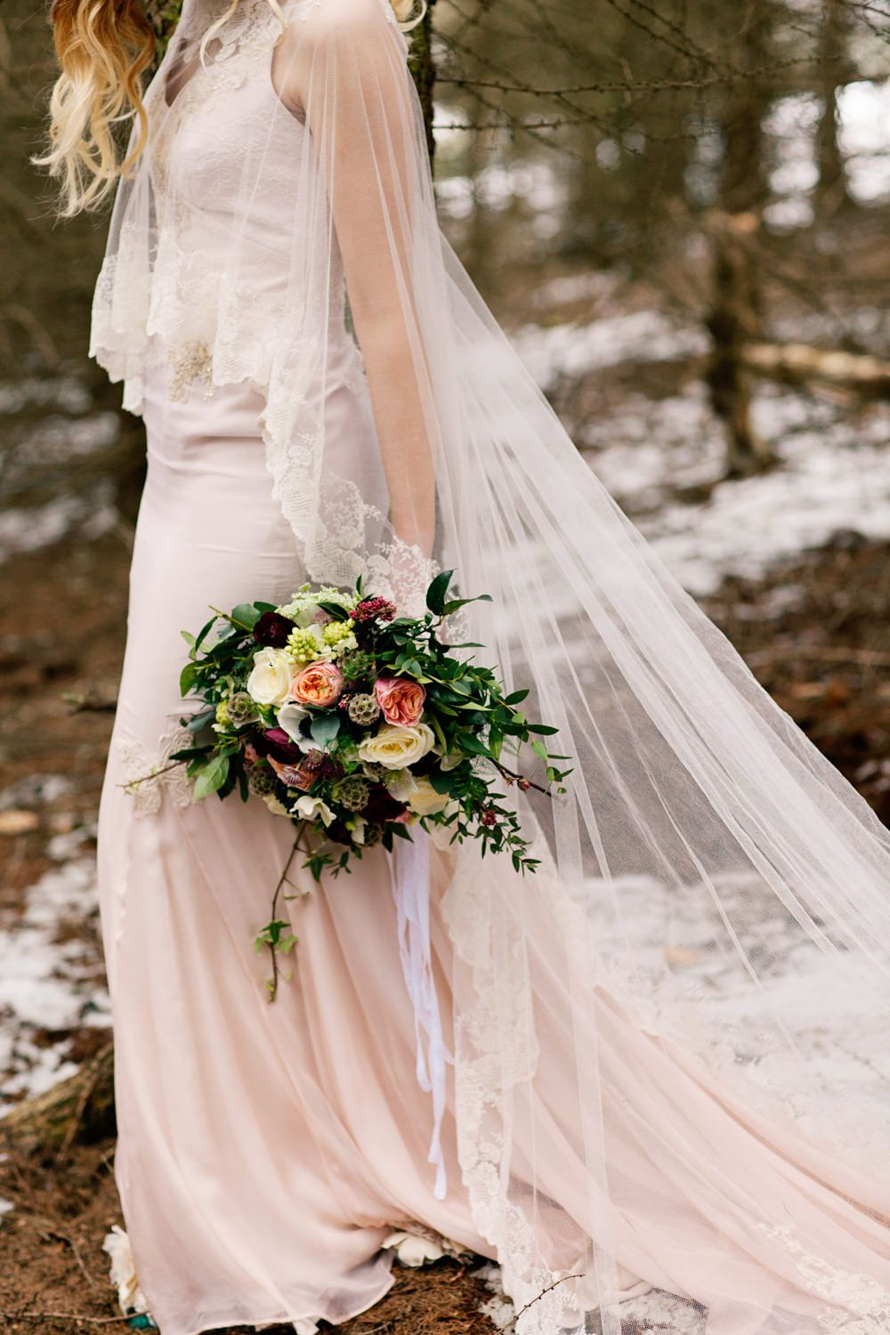 Terry Fox Wedding Dresses For A Winter Bridal Inspiration Shoot In ...