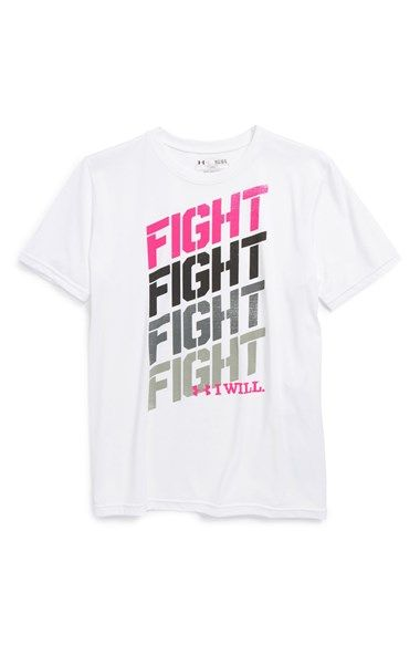 8c16c6282 Under Armour 'Fight - Power in Pink®' HeatGear® T-Shirt available at  #Nordstrom. Help support the fight against breast cancer and brand him as a  fighter in ...