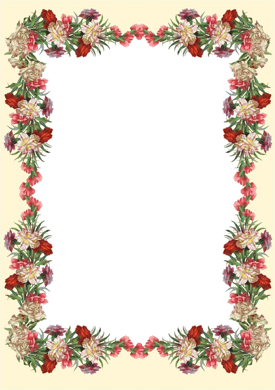 Free printable vintage flower stationery for Aquarium hintergrund ausdrucken