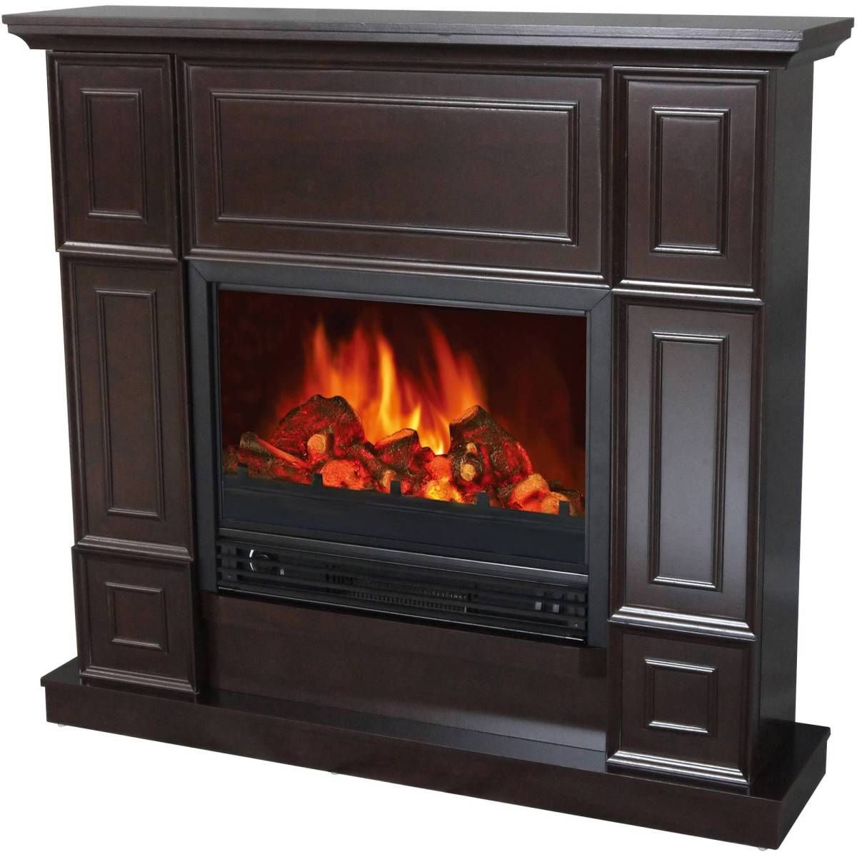 Decor Flame Electric Fireplace Space Heater With 44 Mantle