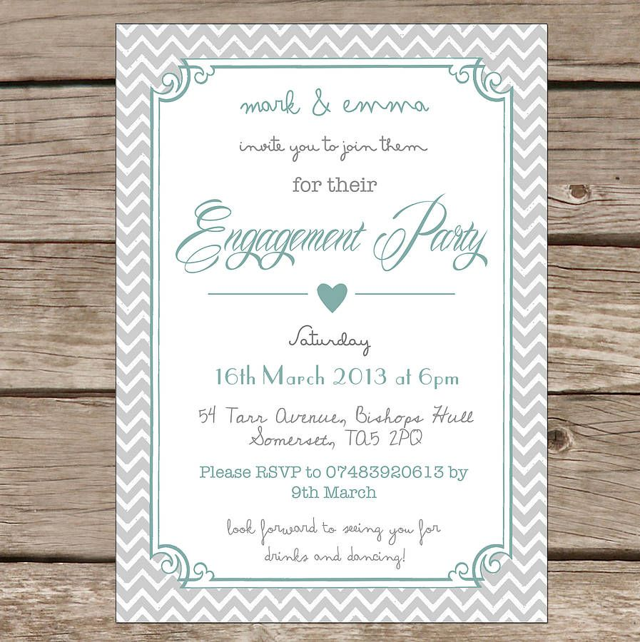 Personalised Engagement Party Invitations