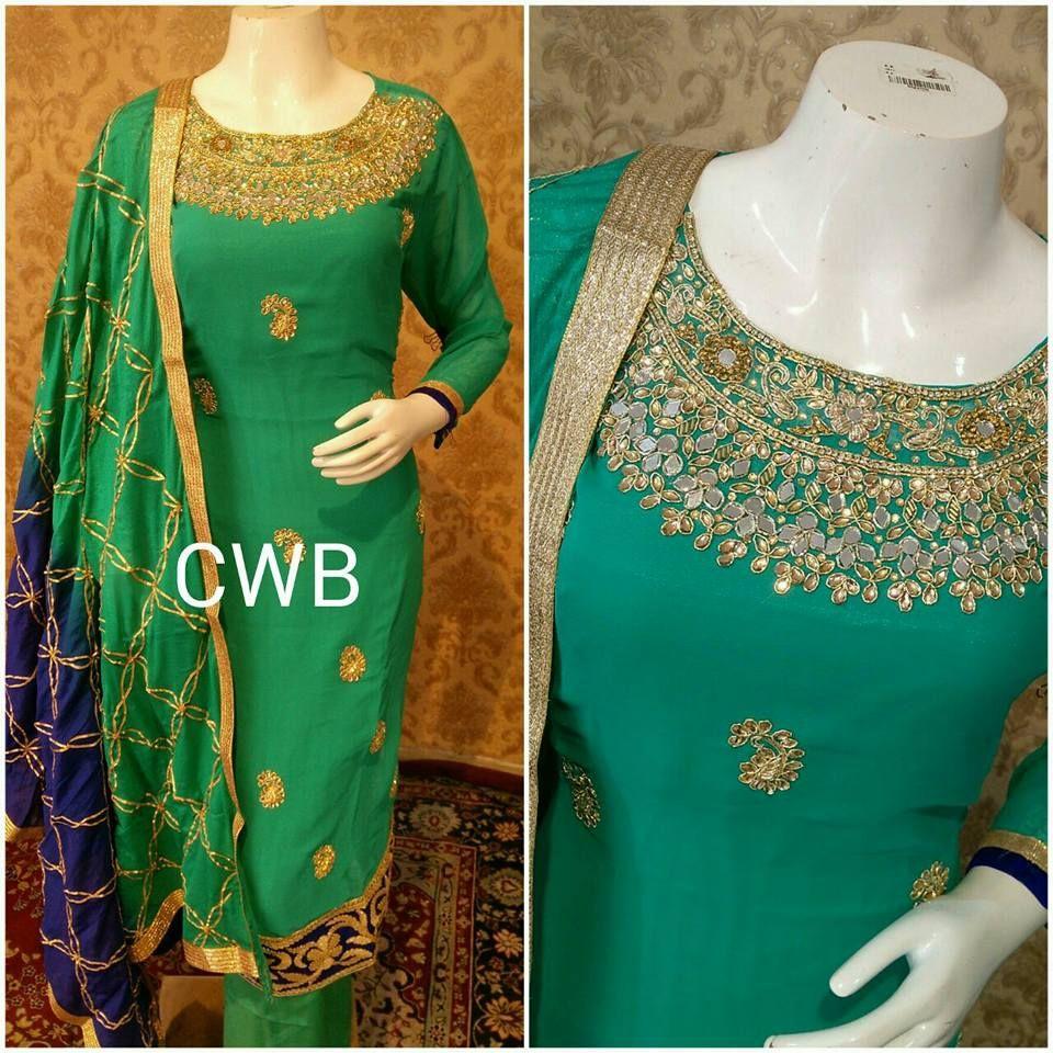 Punjabi suit latest designs shalwar kameez dress for women