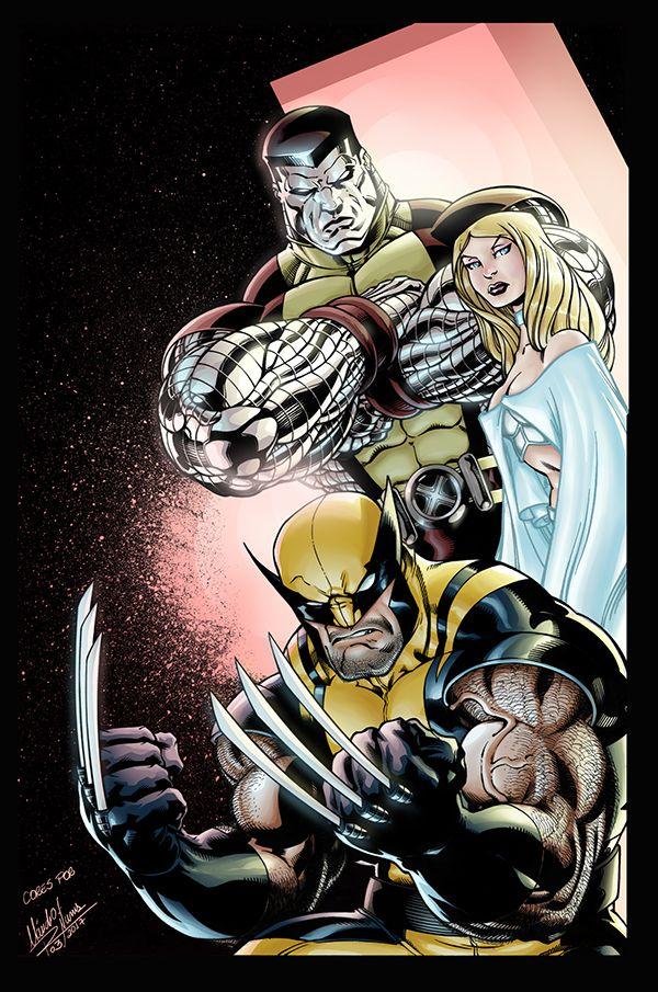 Photoshop Coloring Exercise Exercicio De Colorizacao On Behance Comic Books Art Colossus Marvel Marvel 4k Wallpaper