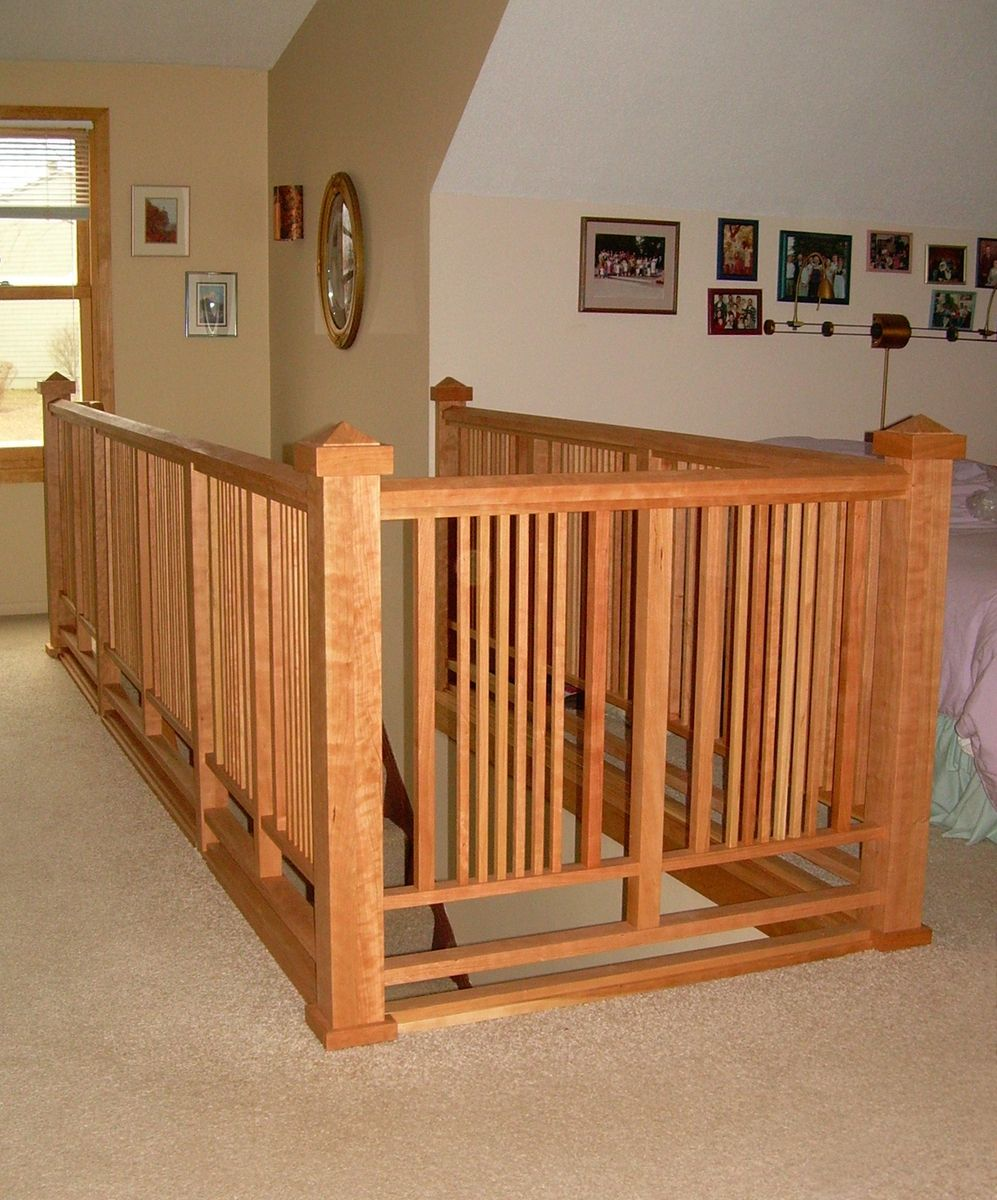 Decorating Stairs And Stair Railing: ARTS And CRAFT Style Stair Railing Design Love It