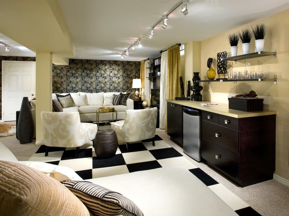 10 Chic Basements By Candice Olson Basement Makeover Basement