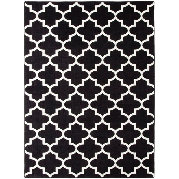 Threshold Fretwork Rug Black 112 Liked On Polyvore