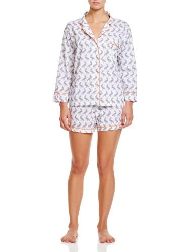 Marigot Women s Lorient Short Pajama Set Small Slate (Grey) Pelican ... 1f89a69fb