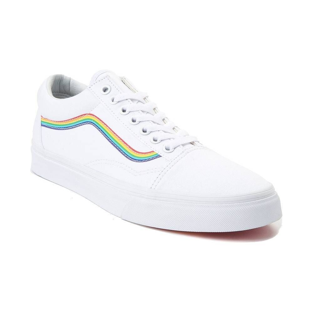 Details about NEW Vans Old Skool Rainbow Skate Shoe White