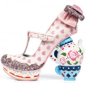 Irregular Choice-Alice in Wonderland 'My Cup of Tea', pink