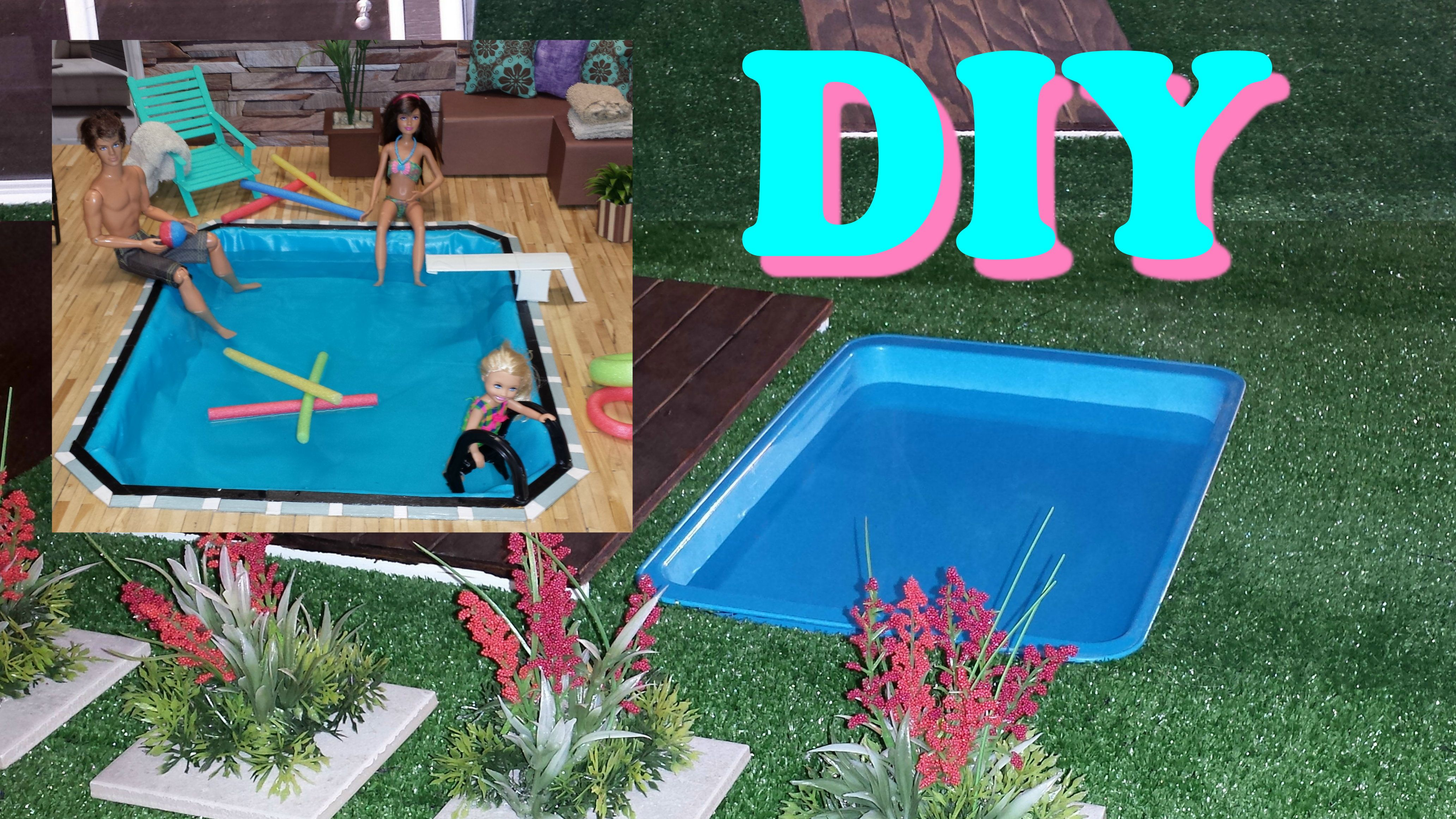 5 Diy Miniature Swimming Pools Doll Furniture Diy Diy Doll Pool Diy Doll