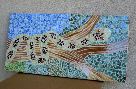 Fun mosaic wall piece!